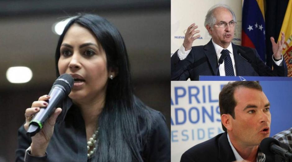 Delsa Solórzano, Antonio Ledezma,Tomás Guanipa.