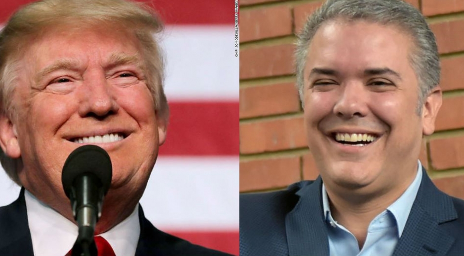 Donald Trump e Iván Duque.