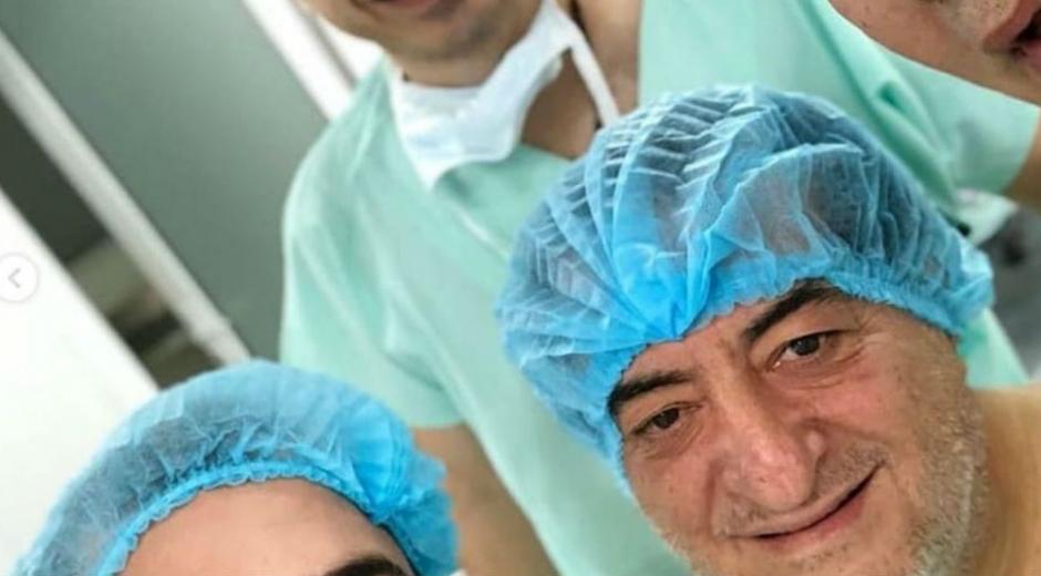 Jorge Oñate minutos antes de la operación.