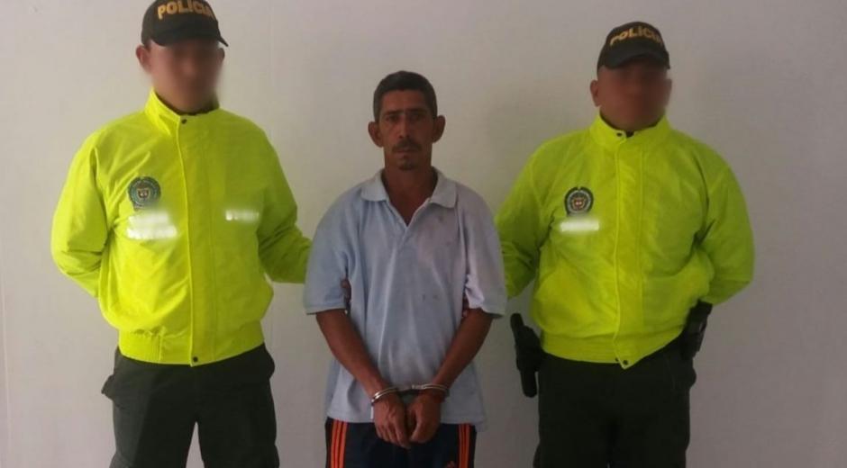 Omar Enrique Altamar Gómez fue capturado en el corregimiento de Guacamayal.