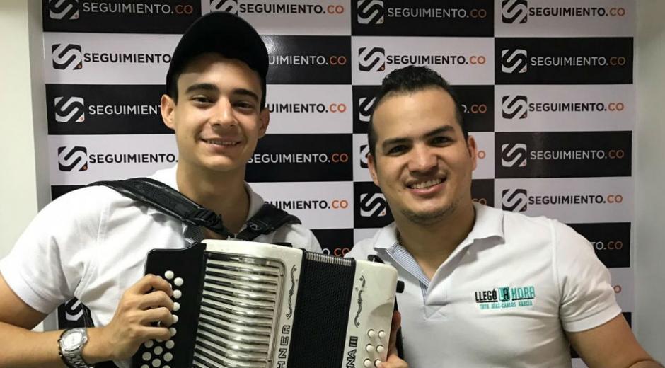 Toto Díaz y Carlos García, durante su visita a Seguimiento.co