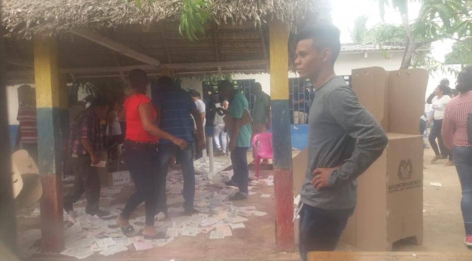 En Pijiño del Carmen hubo afectación de algunas mesas de votación.