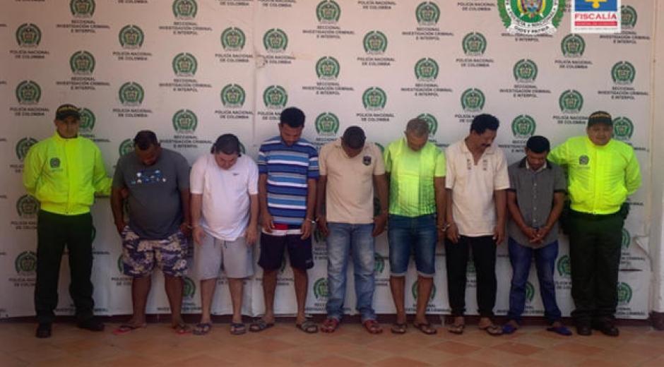 Presuntos integrantes de una red de narcotráfico