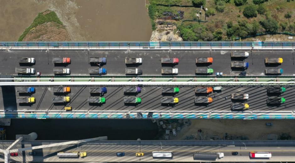 Imagen aérea del Puente Pumarejo