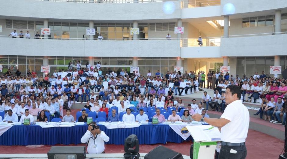 La rendición de cuentas se llevó a cabo en la tarde de este jueves en el Teatrino del nuevo Edificio de Bienestar Universitario.