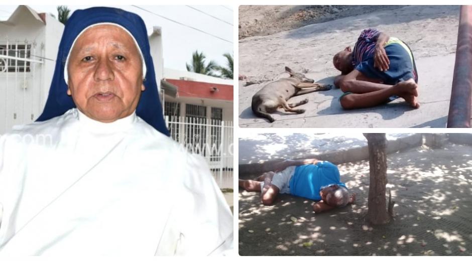 Piedad Enrique Melo es la encargada del asilo de Ciénaga, que está en graves condiciones.
