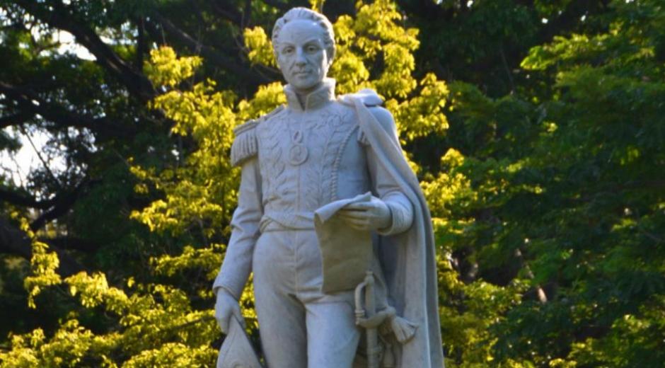 Escultura del Libertador Simón Bolívar