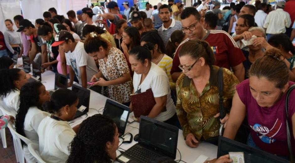 Migrantes venezolanos en Santa Marta - referencia.