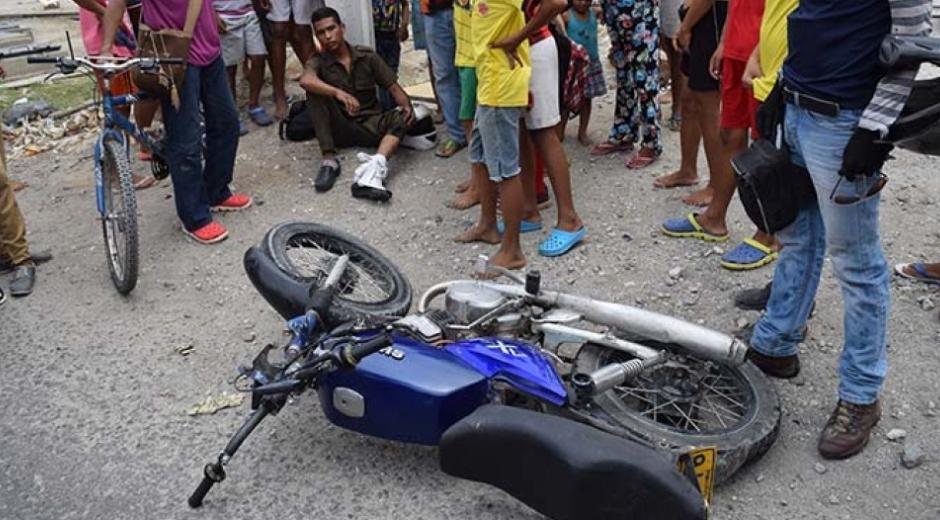 En 2018 se presentaron 211 casos de lesionados por accidentes en motocicleta.