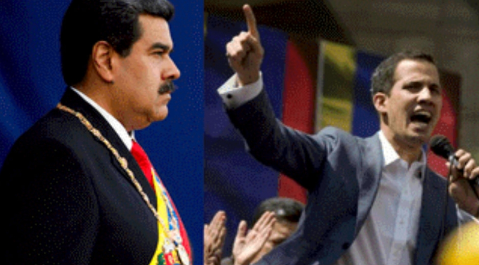 Nicolas Maduro y Juan Guaidó