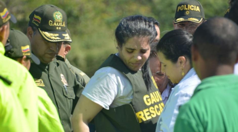Melissa Martínez, el día de su liberación