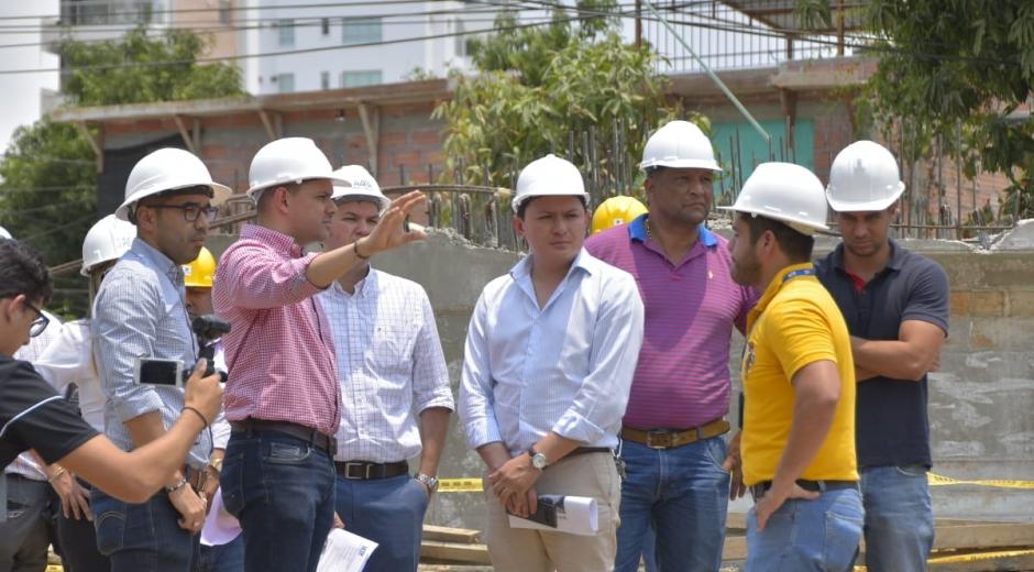 Recorrido del Viceministro de Transporte en obras de Santa Marta