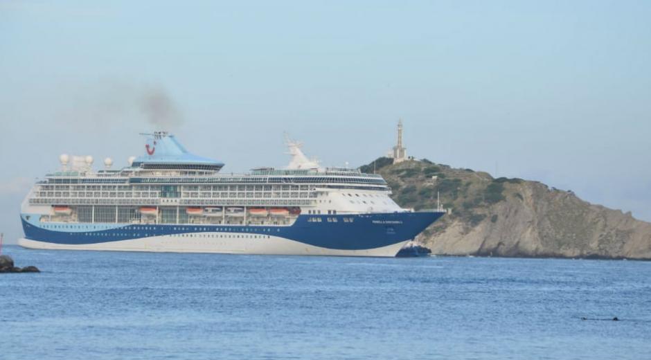 El crucero llega procedente de Cartagena.