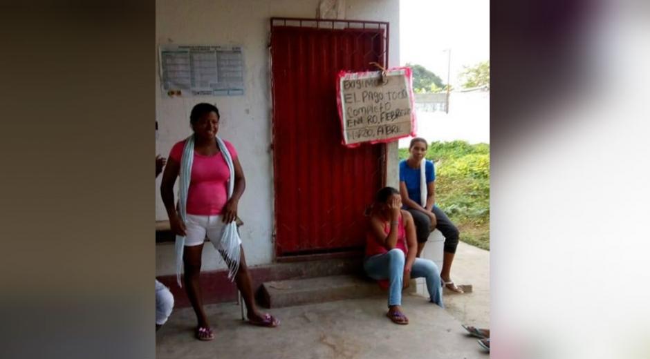 Las madres elaboradas protestaron en la mañana de este martes.