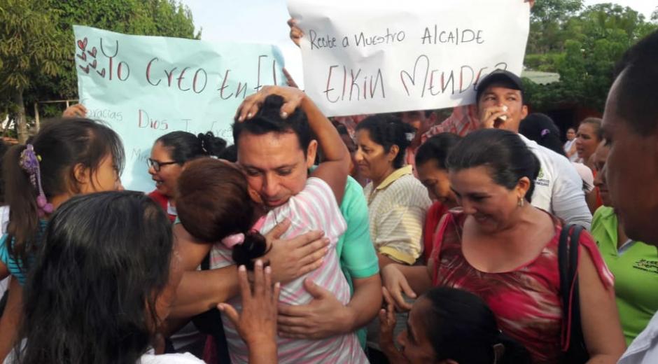 Llegada de Elkin Méndez a Guamal.