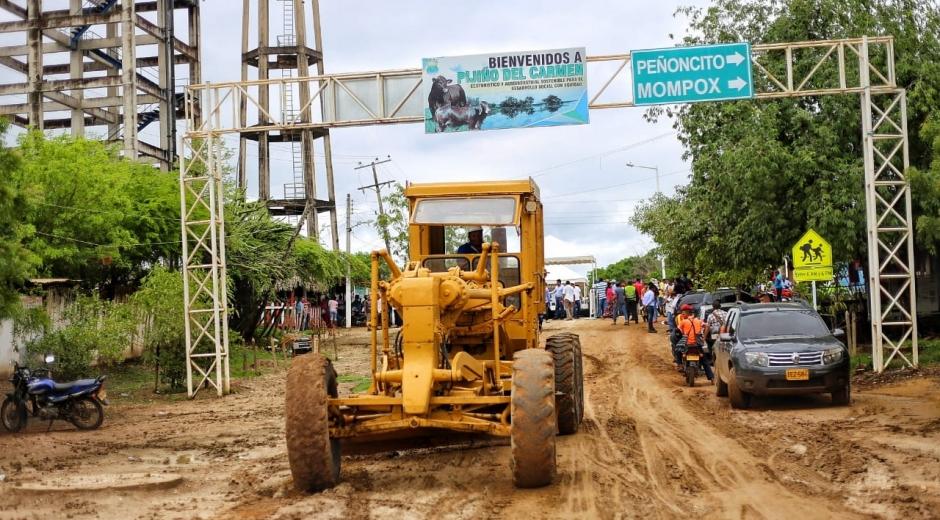 Esta obra va unificar la cabecera municipal con la ruta que va de Santa Ana a La Gloria.