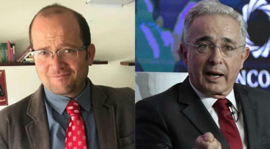 Daniel Samper y Alvaro Uribe.
