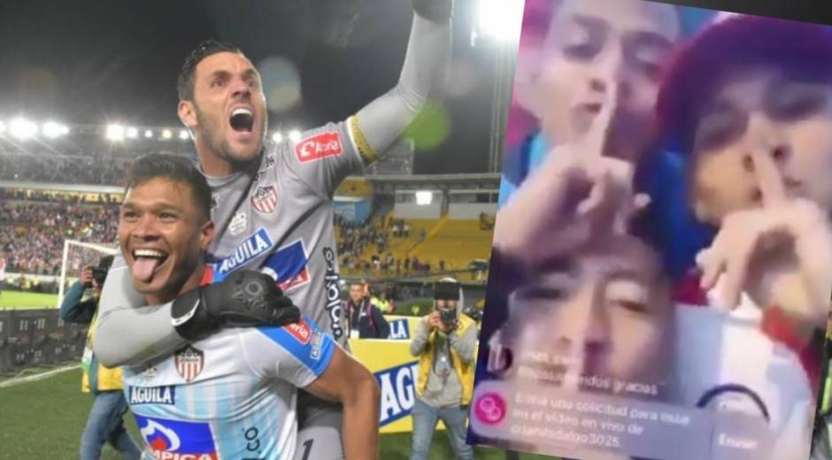 Sebastián Viera y jugadores de Pasto.