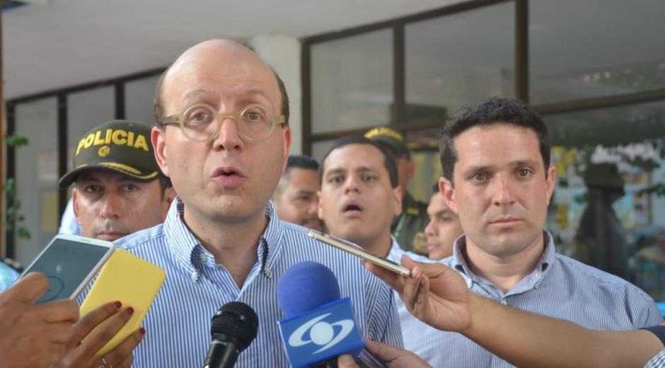 El alcalde (e) de Santa Marta, Andrés Rugeles.