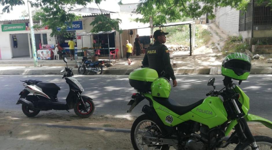 La Policía reportó normalidad en el comercio.
