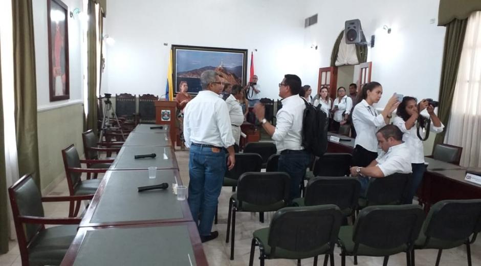 Así estuvo el recinto ante la ausencia de gran parte de los diputados.