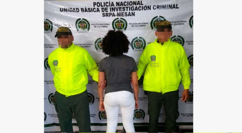 La capturada fue identificada como Marisodelis Martínez Gamarra, natural de Cartagena.