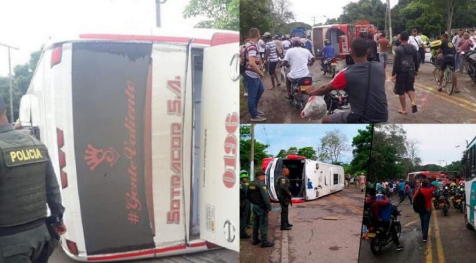 Accidente en la ruta Montería-Cartagena