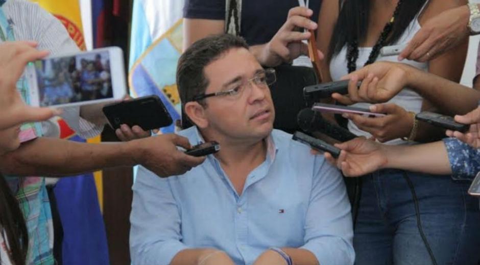 Rafael Martínez, alcalde de Santa Marta suspendido.