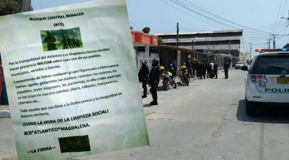 Con un panfleto amenazaron desde marzo a los Pachencas y a la Silla.