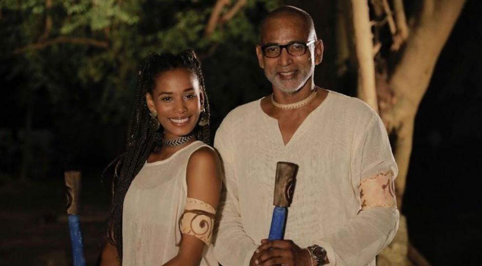 Sher Herrera junto a su compañero del reality Pedro Noguera.
