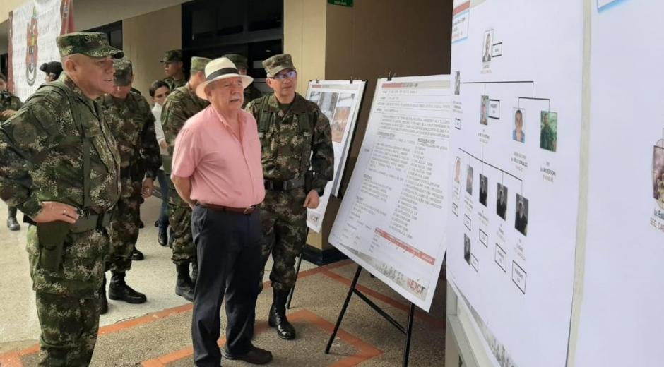 El Ministro de Defensa, Guillermo Botero