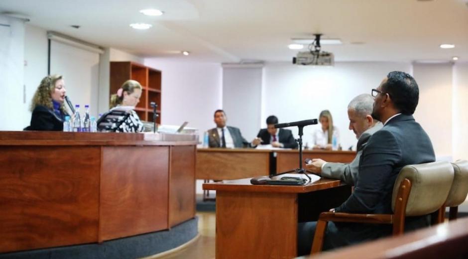 La audiencia en el Ministerio Público.