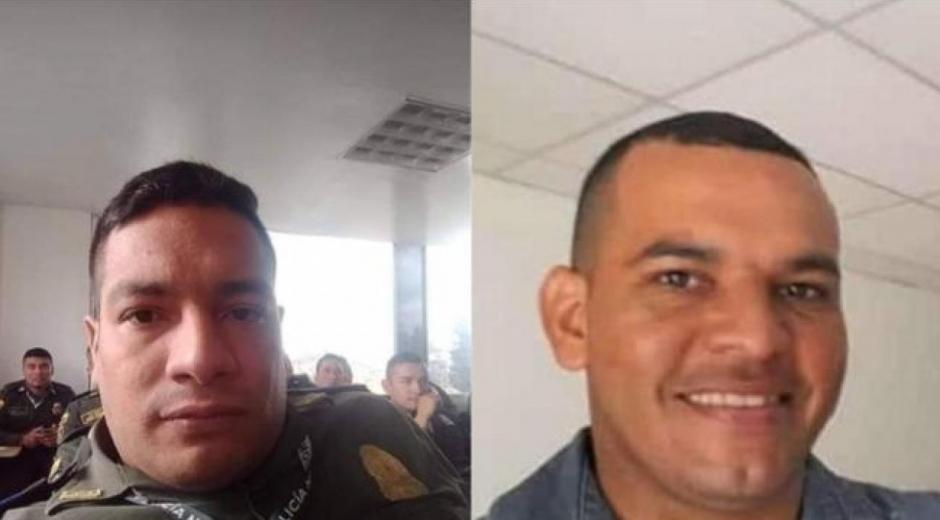Patrulleros Cristian Montes (herido) y José Arenas (fallecido).