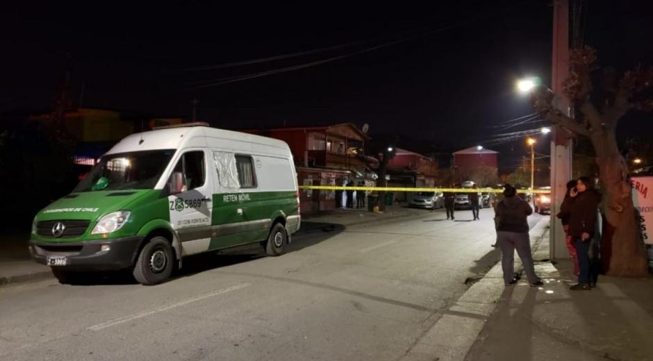 Lugar del tiroteo en la población Carol Urzúa en Chile.