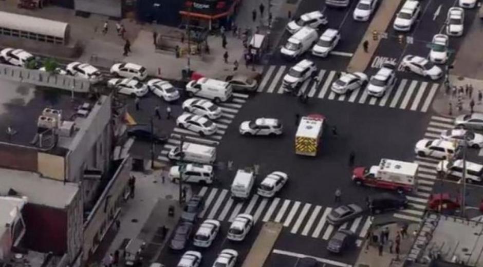 Imagen aérea del suceso.