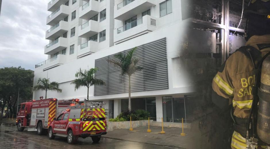 Incendio en el edificio Da Vinci Soriano.
