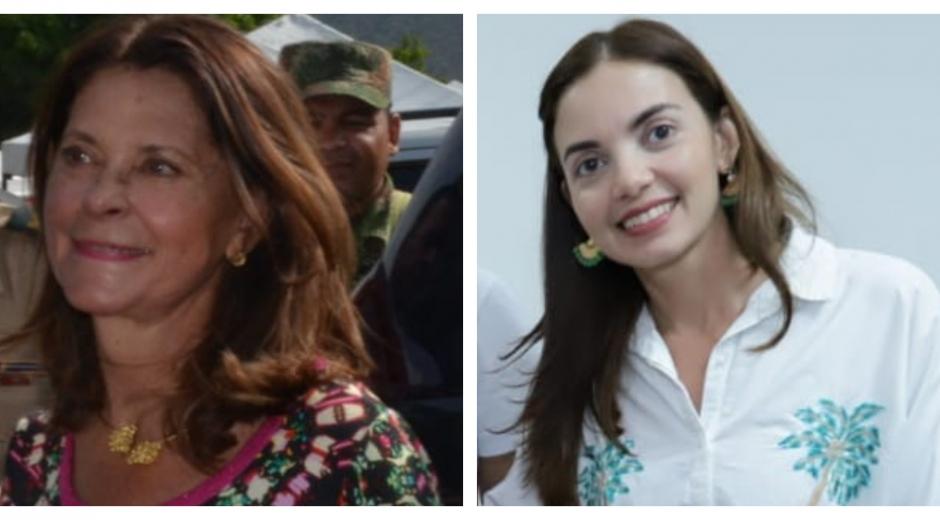 Vicepresidenta de la República, Marta Lucía Ramírez, y directora de la Oficina de la Mujer y Género, Gloria Latorre.