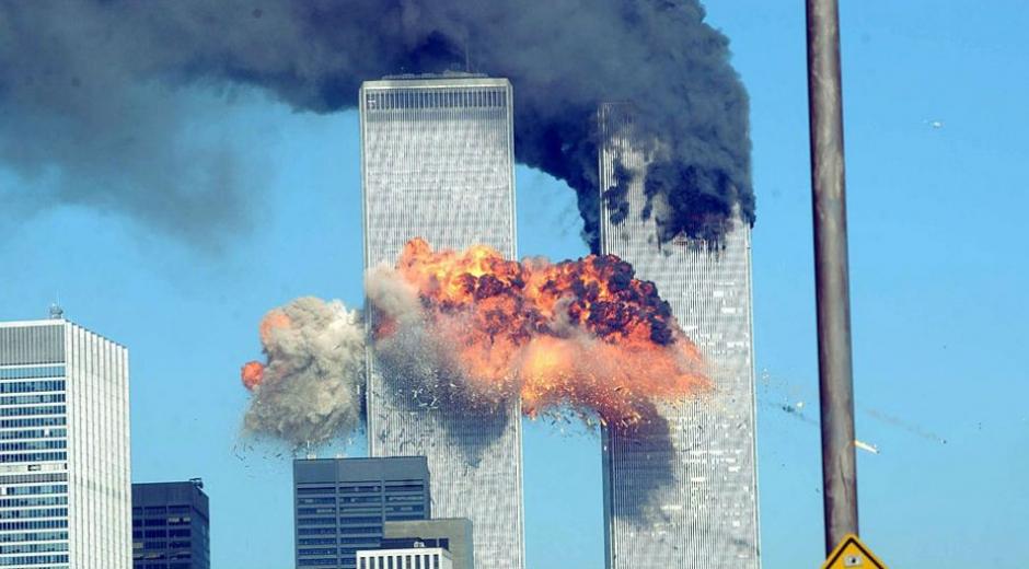 Fotografía del momento del ataque terrorista.