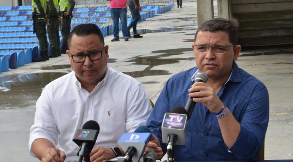 El alcalde Rafael Martínez y el gerente de Infraestructura Jonathan Nieto
