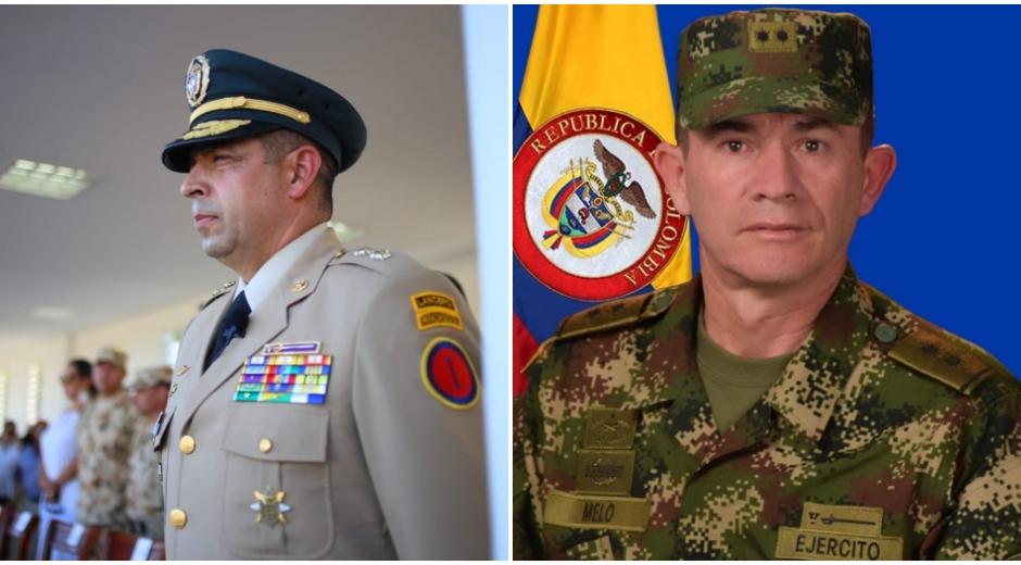 A la izquierda, el saliente Brigadier General Hugo Alejandro López y a la derecha, el Brigadier General Gerardo Melo Barrera