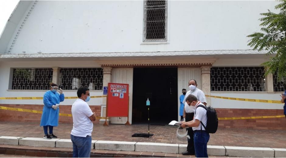 Alcaldía ha aprobado protocolos de bioseguridad a 70 iglesias y templos.