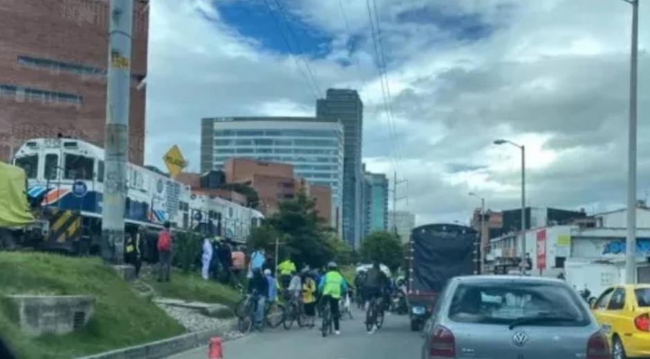 Accidente en el norte de Bogotá