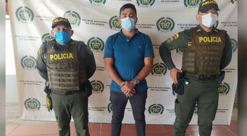 Deinstin Orlando García Arévalo, alias 'El Negro' o 'Comandante Yesid'.