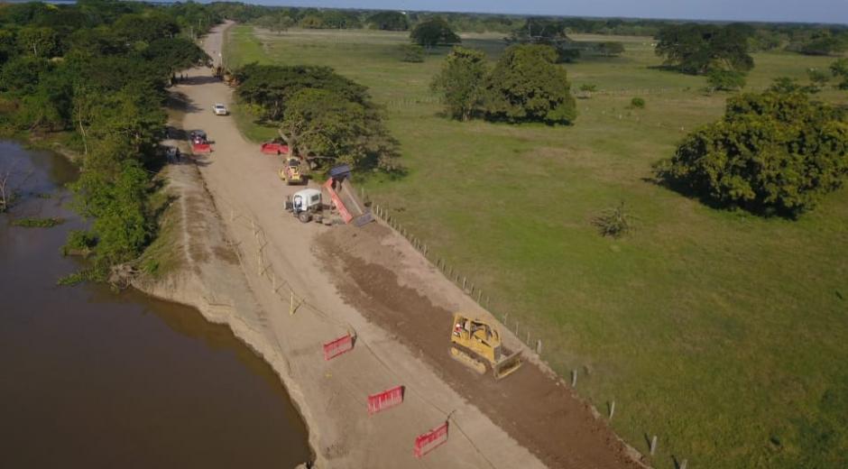 La erosión de la vía Salamina se ha presentado en varios puntos.