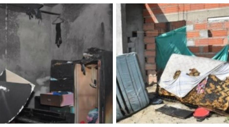 El incendio se generó porque la dueña de la casa salió a una reunión y dejó una veladora encendida.