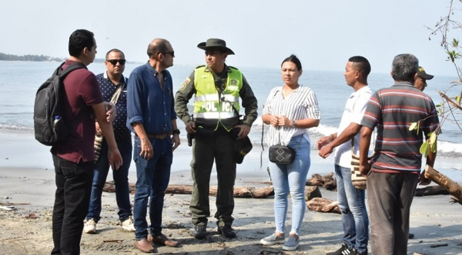 Un equipo interdisciplinario participó en la primera jornada de inspección en el sector de Costa Verde.