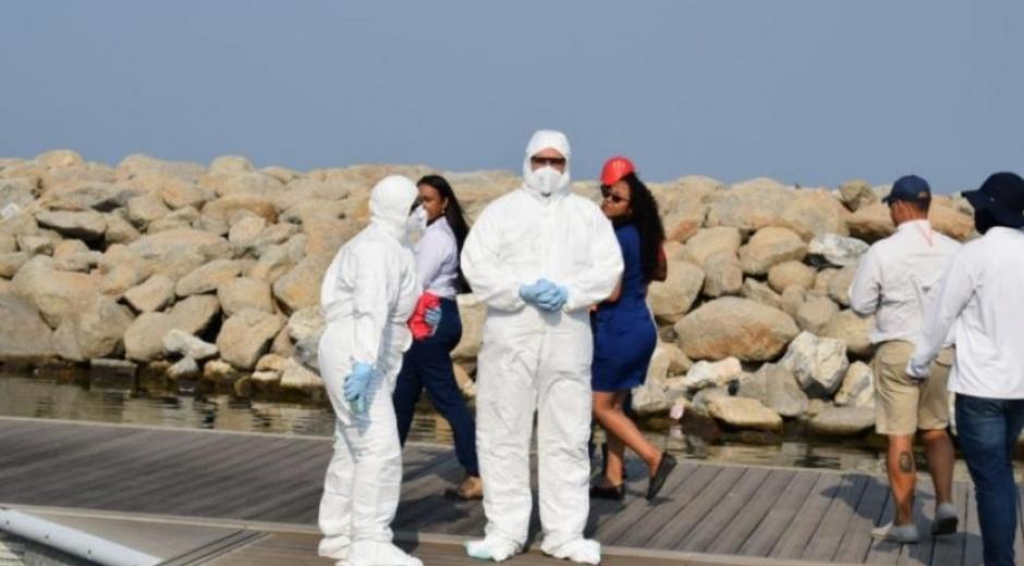 Varias instituciones de Santa Marta organizaron un simulacro sobre la atención ante la eventual llegada de un caso probable de coronavirus.