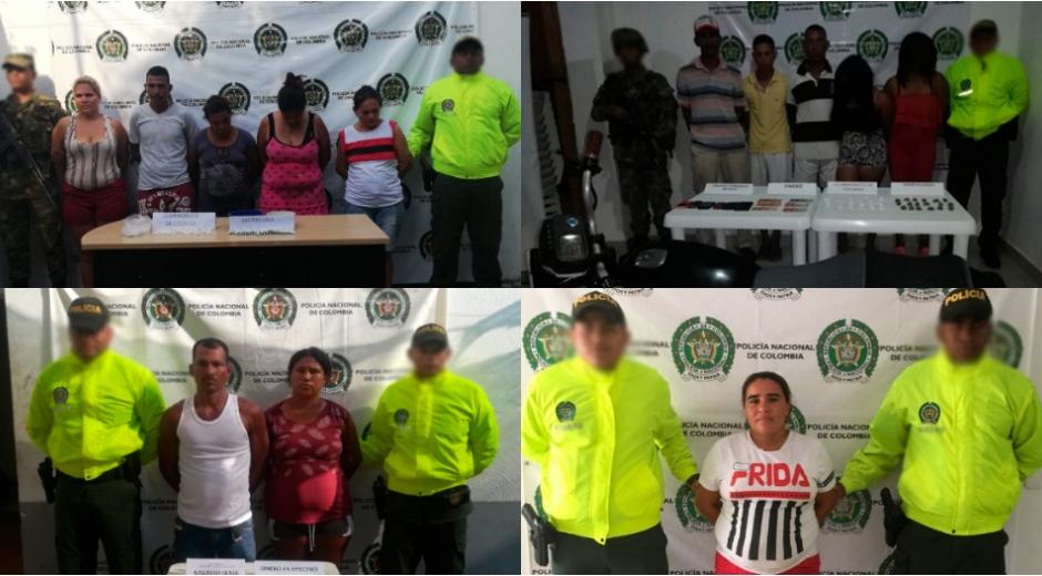 En diferentes procedimientos la Policía del Magdalena capturó a 13 personas, los operativos fueron ejecutados en el contexto de la lucha contra el tráfico de estupefacientes.