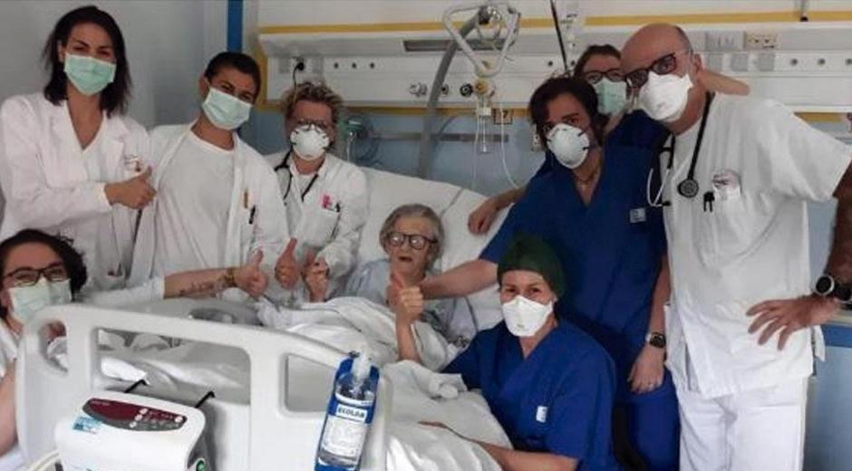 Alma Clara Corsini, una anciana de 95 años, oriunda de Italia.