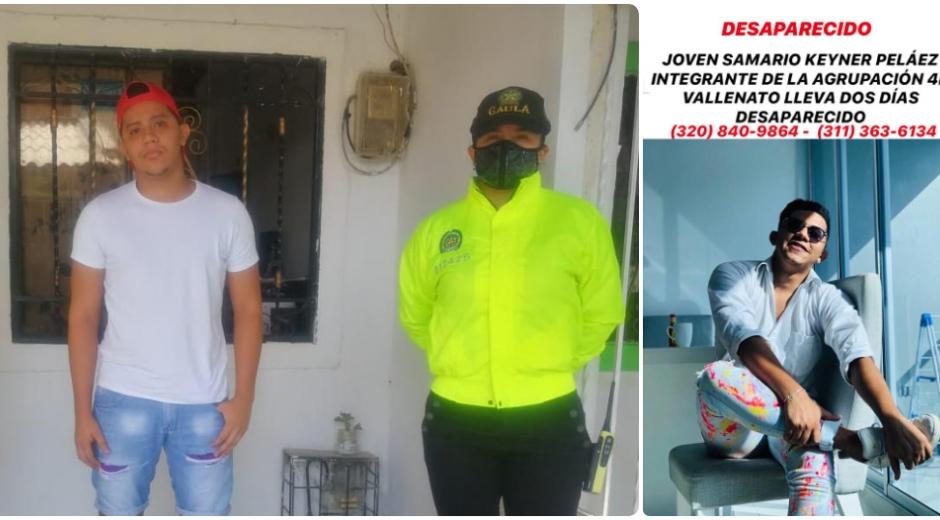 Las autoridades del Gaula verificaron que el joven ya había aparecido.